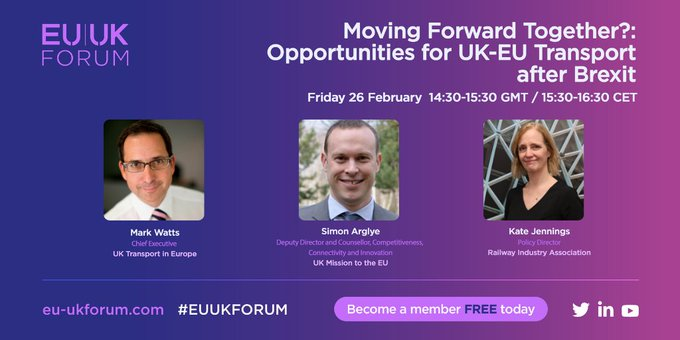 Moving Forward Together? Opportunities for UK-EU Transport after Brexit - Friday 26 February