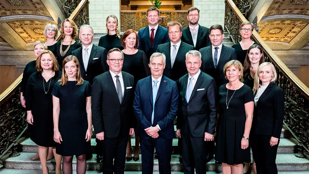 Finnish five party government led by Social Democrat Antti Rinne takes up office