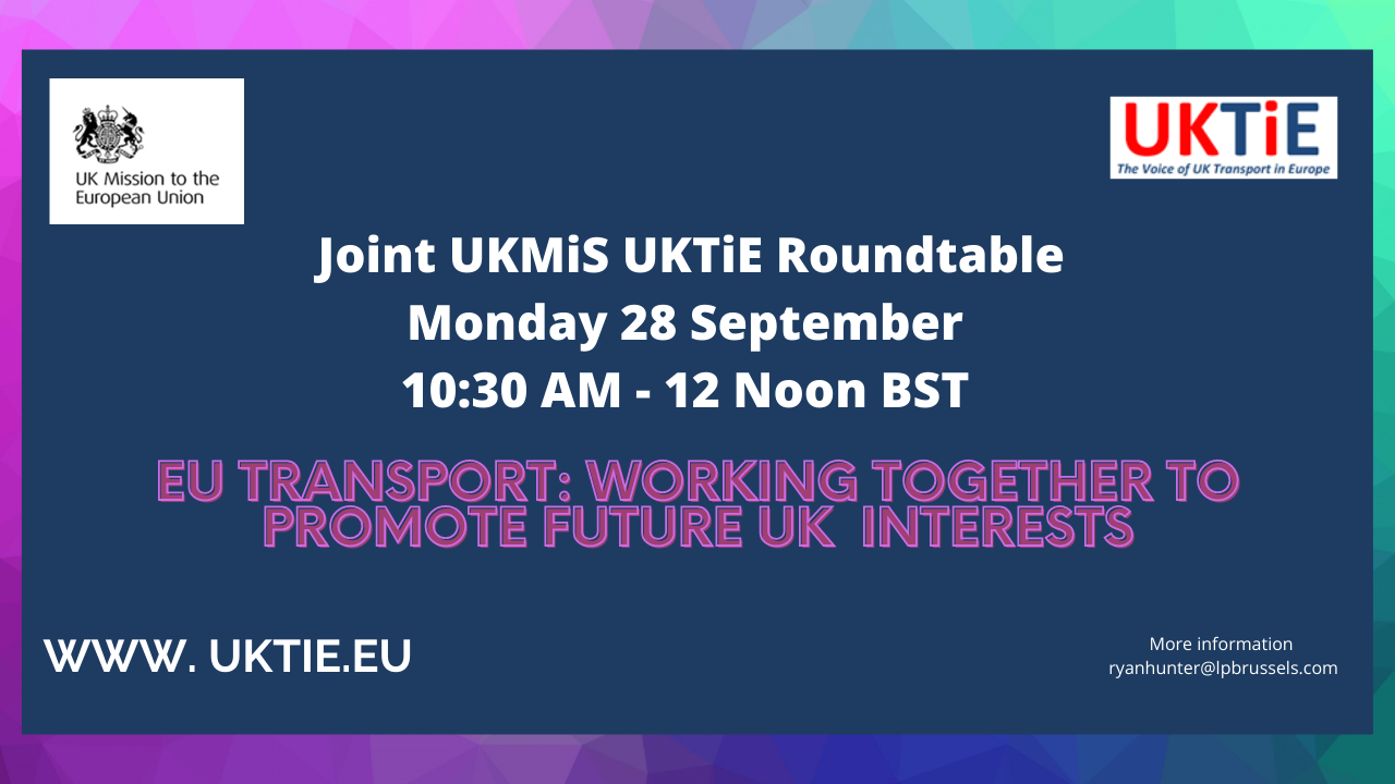 LP Brussels Director to co-host roundtable with UK Mission & leading transport players